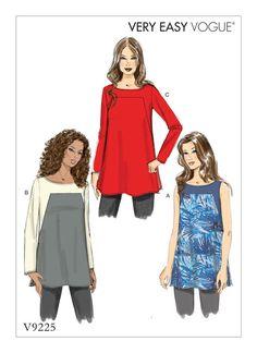 Vogue Patterns V9225 sewing pattern: MISSES SQUARE-SEAM TUNICS                                                                                                                                                                                 More