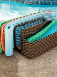 Store And Organize All Your Pool Party Essentials With The Wicker Float  Storage; A Stylish