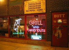 "Enjoy a ""cheezborger, cheezborger, cheezborger"" at Billy Goat Tavern!"