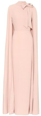 Valentino Silk caped dress
