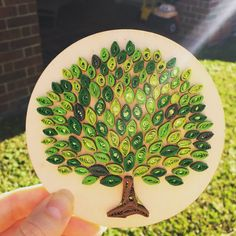 Unique Quilled Paper Art: Tree / Paper on Wood / Decor