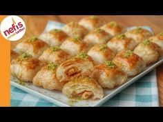 CANIN TATLI MI ÇEKTİ 😋 5 DAKİKADA EN BASİT ŞERBETLİ TATLI ✅ KÖROĞLU SARMASI TARİFİ - YouTube Iftar, Baked Potato, Shrimp, Sausage, Meat, Ethnic Recipes, Food, Youtube, Desserts