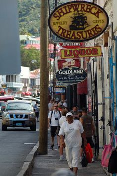 Downtown St. Thomas ~ Caribbean Shopping