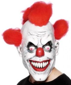Smiffy's Clown 3/4 Mask With Hair - Adult, One Size in Clothes, Shoes &…