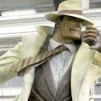 Naperville, Illinois: Statue of Dick Tracy    The 20th century newspaper crime fighter immortalized in 21st century bronze. Nine feet tall!
