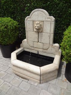 Large #Lion #Head Fountain Detail #Mecox #interiordesign #mecoxgardens #furniture #shopping #home #decor #design #room #designidea #vintage #antiques #garden