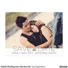 Stylish Wedding Save The Date Photo