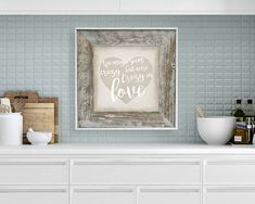 Crazy in Love Canvas Artwork Reclaimed Wood frame