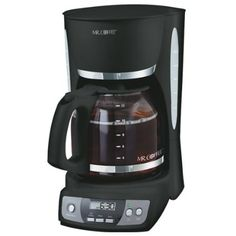 Mr. Coffee Programmable 12 Cup Brewer - I love my coffee, so brewing one cup at a time is just a waste of time for me. This programmable brewer starts on time, and then automatically shuts off after 2 hrs. Does a great job on 2 or 12 cups. Attractive on the counter, brews quickly.