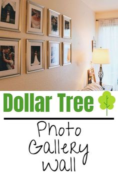 Budget Home Decor. Dollar Tree Photo Gallery Wall on a budget to decorate your home beautifully and save money on home decor.