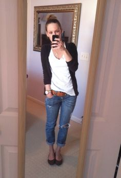 How to master the plain.  Jeans and tee plus cardi is always good and simple
