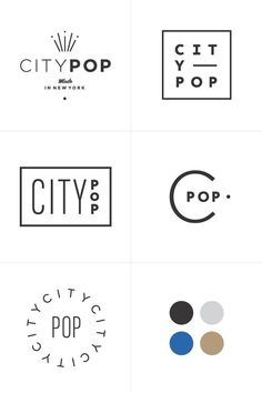 City Pop | Branding Process | Rowan Made
