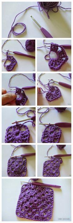 Con este tutorial, paso a paso con fotos, vas a poder tejer un hermoso cuadradito de crochet