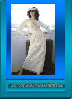 If you are looking for a vintage style wedding dress from the 1970's for your vintage wedding, why not wear the real thing?     Wow Super Sexy Skinny Minny Wedding Gown by whiteriver51 on Etsy, $250.00