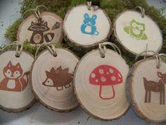 A Polar Bear's Tale: Woodland animal gift tags