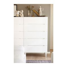 SVEIO Chest with 5 drawers IKEA Drawers with integrated dampers close slowly, silently and softly. Smooth running drawer with pull-out stop....