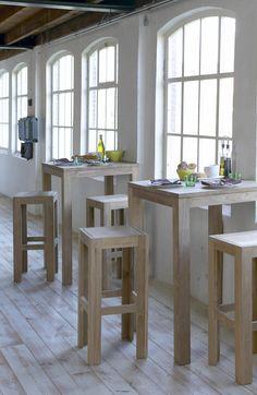Idee voor werkruimte overleg styling voorbeelden pinterest bar studio apartment and - Cuisin e met bartafel ...