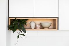 Australian ceramics featured in a Cantilever Interiors shadowbox | cantileverinteriors.com