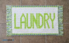 """""""Laundry Mat"""" Tapestry Crochet Rug - free pattern and video at B.hooked Crochet."""