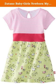 Zutano Baby-Girls Newborn My Pony Banded Waist Dress, Hay, 6 Months. This new Zutano dress for baby is a great choice for your next special occasion. It features cap sleeves and a pretty neckline with a keyhole button at the back for easy dressing. A stripe top meets a solid empire waist while the full skirt features a fun spring print. Great for layering over leggings or diaper covers.
