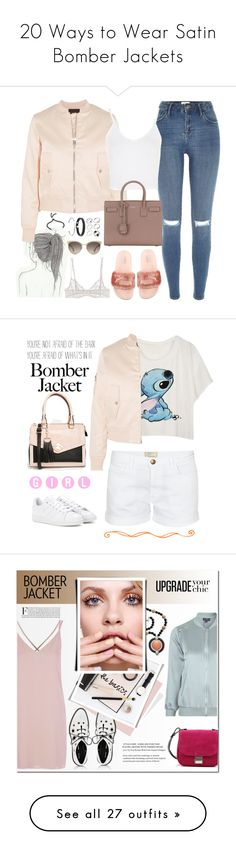 """20 Ways to Wear Satin Bomber Jackets"" by polyvore-editorial ❤ liked on Polyvore featuring bomberjackets, waystowear, Maje, River Island, Topshop, Puma, Yves Saint Laurent, La Perla, Miu Miu and ASOS"
