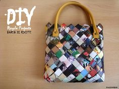 DIY magazine bag.  Video tutorial included.