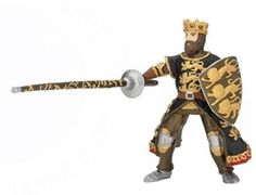 The Black and Gold King Richard with Lance from the Papo Castles and Knights collection - Discounts on all Papo Toys at Wonderland Models. One of our favourite models in the Papo Knights range is the Papo Black and Gold King Richard with Lance. Papo manufacture wonderful, amazingly accurate models of all sorts of toy figures, particularly knights and horses including this model of the Black and Gold King Richard with Lance which can be complemented by any of the items in the Castle range.