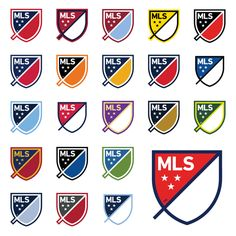 MLS+crests+in+club+colours+