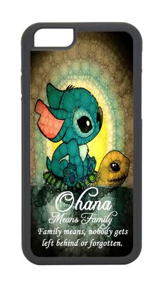 IPHONE 4 5 6 OHANA SITCH ON TURTLE CASE #Apple