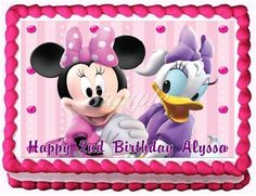 Minnie Mouse and Daisy Duck Edible Frosting Sheet Cake Topper - 1/4 Sheet ^^ Discover this special product, click the image : baking decorations