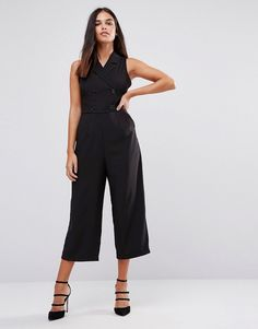 Ax Paris Tailored Culotte Jumpsuit