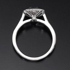 D/VS Princess Cut Diamond Engagement Ring 1.45 CT 18K White Gold Enhanced