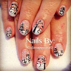 Christmas SNOWMAN by danapereira #nail #nails #nailart  Great Ideas for Christmas?  **********Download this:**********  https://itunes.apple.com/us/app/christmas-santa-photo-booth/id741986822?mt=8