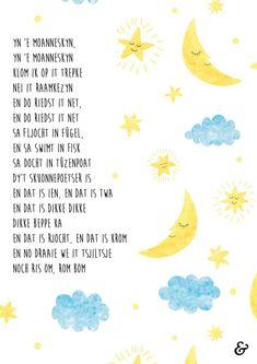 Yn 'e moanneskyn Poster op A4 te bestellen fia websjop.afuk.frl Fries, Posters, School, Quotes, Quotations, Poster, Quote, Billboard, Shut Up Quotes