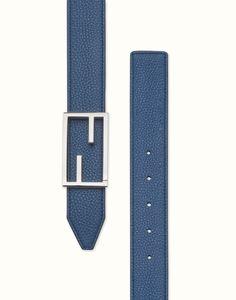 FENDI Reversible blue and slate-colored belt $450 fendi.com