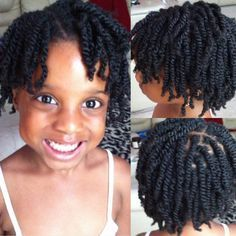Kids Two Strand Twist done on wet hair. This style can be achieved using Fabulocs Intense Moisture Therapy to contain moisture content and to hold style.