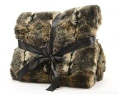 Faux Fur Blanket, Golden @ gainsboroughgiftware.com