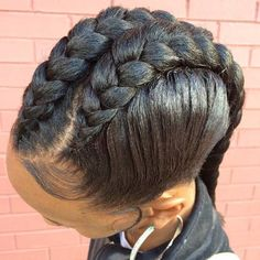 Check out our amazing collection of goddess braids! Our experts picked the best goddess braids updos, plaited designs, halos, mohawks and other fantastic braided hairstyles. Natural Braided Hairstyles, Ethnic Hairstyles, Girl Hairstyles, Braid Hairstyles, Teenage Hairstyles, Goddess Hairstyles, Hairstyles 2016, Cornrows, Two Cornrow Braids