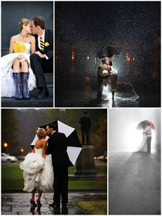 Unique wedding photos when it rains (and if it snows) - for more ideas and inspiration like this, visit us at www.theweddingbelle.net