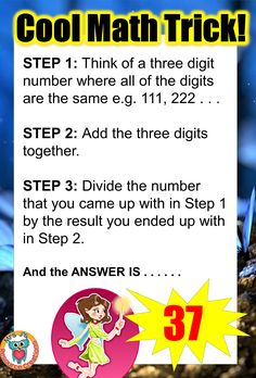 Math Trick where your answer will always be 37!!!
