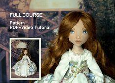 Princess doll E pattern. Cloth doll videopdf sewingpainting