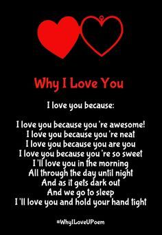 Why I Love You Poems with Reasons for Her & Him