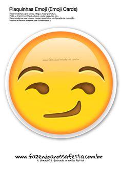 Uau! Veja o que temos para Plaquinhas-Emojis-60---Emoji-Card---Fazendo-a-Nossa-Festa