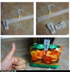 Our chip clips are always breaking, and I am constanly throwing these hangers in the recycling bin.
