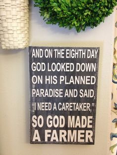 So God Made A Farmer  Paul Harvey Quote  green and by kspeddler, $40.00