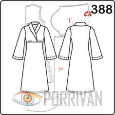 Vzor šaty sousední silueta s šálovým límcem