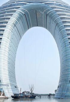 Under the arch of the Sheraton Huzhou Hot Spring Resort
