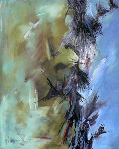"""Abstract Artists International: Daily Abstract Painting, """"Abstractions of the Mind"""" 20x16"""", Oil"""