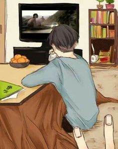 Sooo cute!  They're watching attack on Titan live action or car commercial