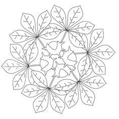 Autumn mandala coloring pages Mandala Coloring Pages, Colouring Pages, Adult Coloring Pages, Free Coloring, Coloring Books, Quilting Templates, Quilting Designs, Mandala Pattern, Mandala Design